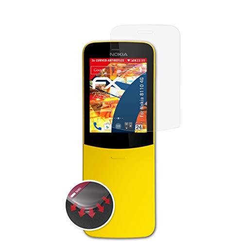 atFoliX Protettiva di Schermo Alta Protezione per Nokia 8110 4G Anti-Shock Pellicola Protettiva, antiriflesso e Flessibile FX Pellicola Protettiva (3X)