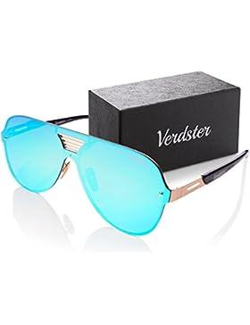 Verdster Gafas De Sol De Aviador TourDePro Para Hombres y Mujeres – Aptos para Conducir – Montura Cómoda con Protección...