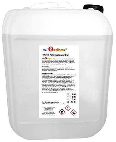 well2wellness® Saunaaufguss 20 liter - über 180 Saunadüfte zur freien Wahl