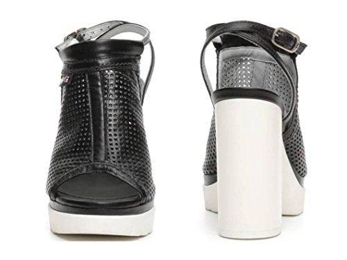Champagne Chaussures Giardini Nero Sandales Noir P717760d Et Talons UXIwxwz