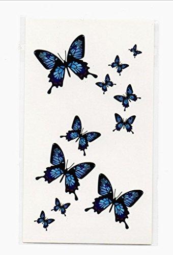 Gymnljy adesivi tatuaggio uomini e donne protezione ambientale impermeabile 3d colorata farfalla tatuaggio adesivi rimovibili tatuaggi temporanei body art sticker (confezione da 20 fogli) , 10.5*6cm