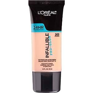 L'Oréal Paris Infallible Pro Glow Longwear Foundation, 203 Nude Beige, 30 ml (Amazon Exclusive)