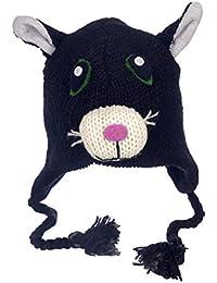 DIVERTENTE Crazy Cat ARTIGIANALE INVERNO LANA ANIMALE Cappello con fodera  in pile 828dcc183211