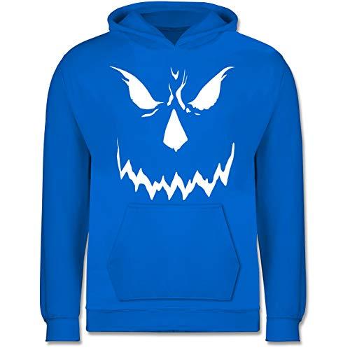 Shirtracer Anlässe Kinder - Scary Smile Halloween Kostüm - 7-8 Jahre (128) - Himmelblau - JH001K - Kinder Hoodie (Für Scary Halloween-kostüme Kleinkind)
