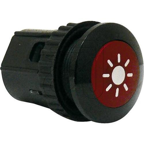 Grothe Klingeltaster beleuchtbar, rund Knopf, Hülse Aluminium Protact 100 LED, schwarz/rot, 1522188