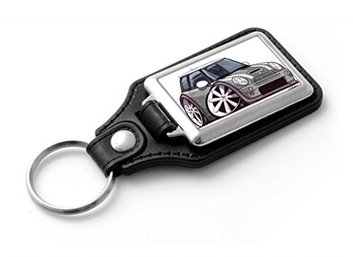 wickedartz-cartoon-car-bmw-mini-cooper-s-dark-silver-classic-style-key-ring
