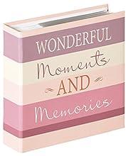 Walther Design ME-337-W Album ad Inserimento Moments Wonderful, Carta, Rosa, 10x15 cm