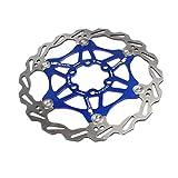 xMxDESiZ Fahrrad-Scheibenbremse MTB DH Float Schwimmrotoren Hydraulische Bremsbeläg Blau 180mm