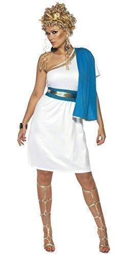 Beauty grichischer Griechisch Göttin Toga Party historisch Kostüm Kleid Outfit - Weiß, Weiß, 16-18 (Römisch-outfits Für Damen)