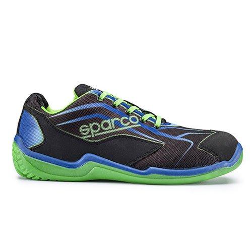 scarpa-antinfortunistica-sparco-mod-touring-low-nascar-s1p-src-nero-verde-tg-38