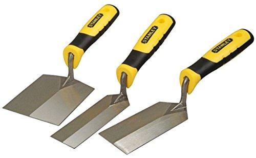Stanley Trockenbau-Stukkateurkellen-Set, 3-teilig (rostfreier Stahl, Bi-Material Handgriff, Griffaussparung) STHT0-05896