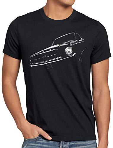 style3 Classic Pony Car Herren T-Shirt Muscle Mustang, Größe:5XL -