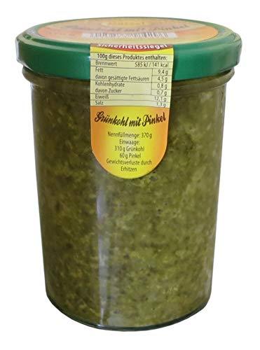Grünkohl mit Pinkel im Glas 370g - Hausmacher Fleisch - Kochwurstspezialität mit Braunkohl und...
