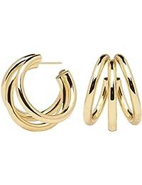 6535ddf4fd10 P D PAOLA - Pendientes TRUE GOLD - Bañados en Oro de 18k - Joyas para Mujer
