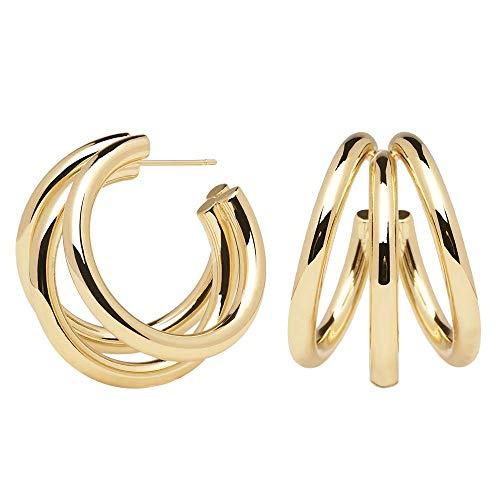 P D PAOLA - Pendientes TRUE GOLD - Bañados en Oro de 18k - Joyas para Mujer