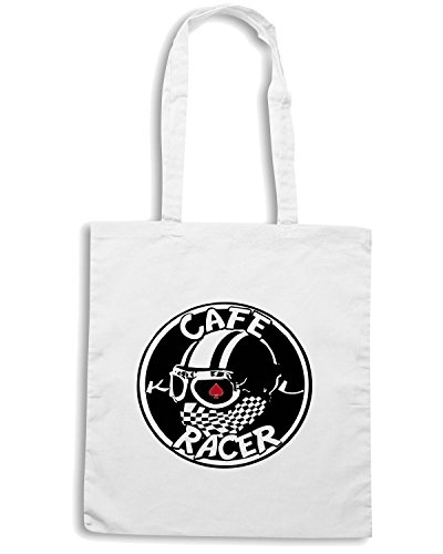 T-Shirtshock - Borsa Shopping TB0228 cafe racer 8 Bianco