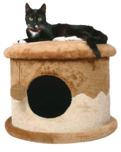Produktabbildung von Trixie 4339 Cat House, ø 50 cm/32 cm, beige/braun