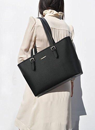 Valin S730 Moda Donna 2018 Borse A Tracolla, Borse, 34x26x14 (nero), Nero