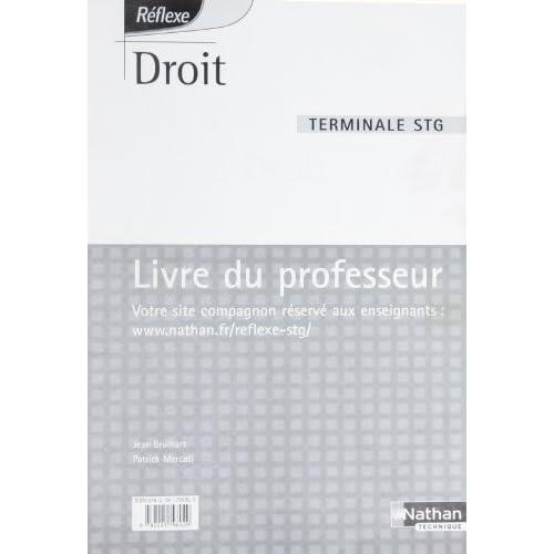 Droit Terminale STG : Livre du professeur by Nathan (2006-07-21)