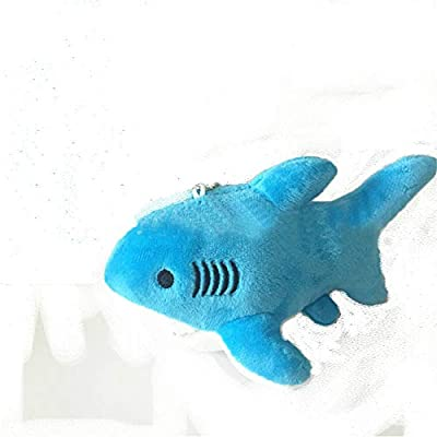 wwwl Juguete de Felpa Bebé Hermoso tiburón Azul Felpa Bolso Mochila Colgante niños Juguete Relleno Juguete Regalo 18 cm de wwwl