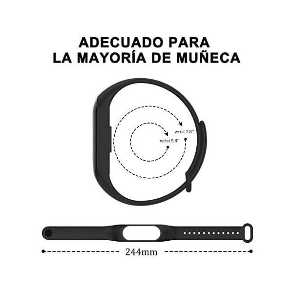 BANGTING 13 PCS Correa Compatible con Pulseras Xiaomi Mi Band 3/4, Correas para Fundas Mi Band 3 Mi Inteligente Band 4… 8