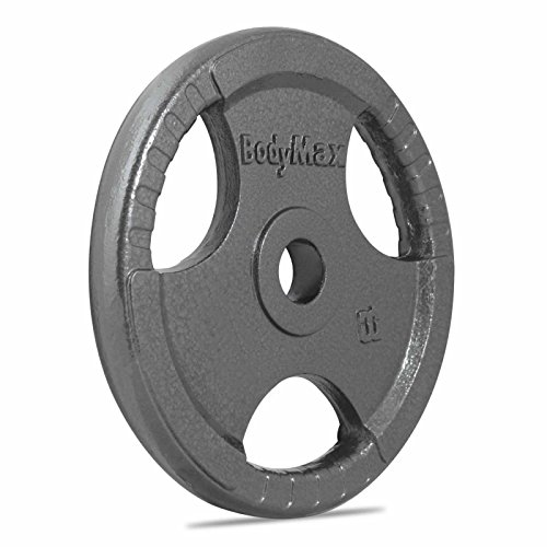 Bodymax Olympic Cast Iron Weight Disc Plate - Silver, 20 kg