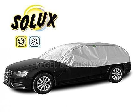 Halbgarage Autoabdeckung Solux für Winter und Sommer (L-XL Hatchback/Kombi)