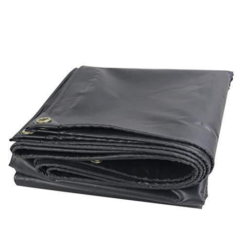 Pengbu Planenblatt, Verdicktes Doppelseitiges Wasserdichtes Regenschutz-Frostschutzmittel - Schwarz (Size : 4.8m*5.8m) (Frostschutzmittel Ungiftig)