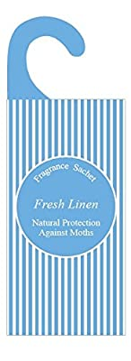 Fragrance Bags, Natural Moth Repellent, Pack of 3, Fresh Linen, Scented Sachets for Wardrobes, Drawers and Cupboards