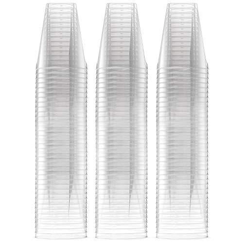 apsgläser, Extra Große 60 ml/6 cl - Kristallklar, Hält die Perfekte Menge, Sicherer als Glas - Einweg Kunststoff Shotgläser, Ideale für Shots beim Partys, Hochzeiten & Events ()