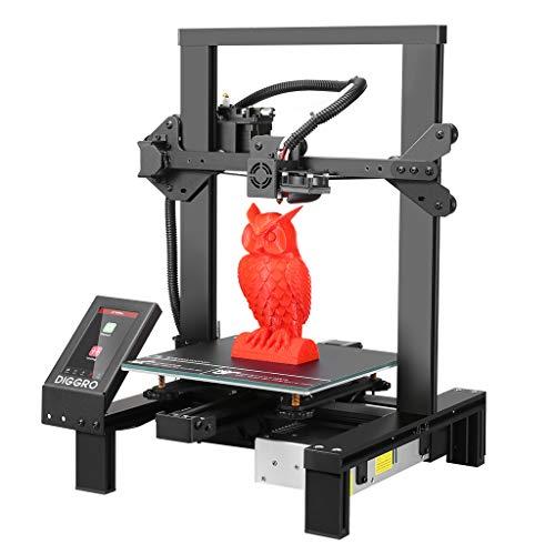 Imprimante 3D Haute Précision, DIGGRO Alpha-3 Imprimante 3D avec 4,3'' Écran Tactile, Grand Volume...