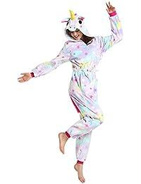 Misslight Unicornio Pijamas Animal Ropa de dormir Cosplay Disfraces Pijamas para Adulto Niños Juguetes y Juegos (M, Style1)