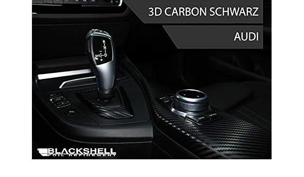BLACKSHELL Zierleisten Folie inkl - Carbon Folie selbstklebend Skalpell A4 B5 17tlg Rakel Interieurleisten