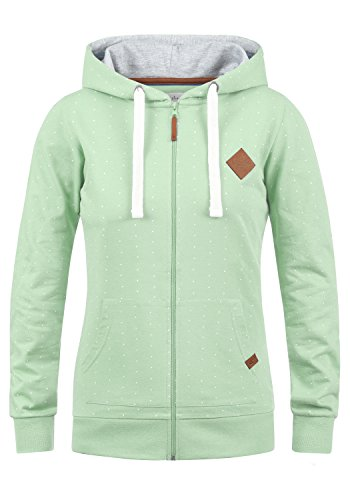 Blend She Polina Damen Sweatjacke Kapuzenjacke Hoodie Mit Kapuze, Größe:XL, Farbe:Subtle Green (23011)