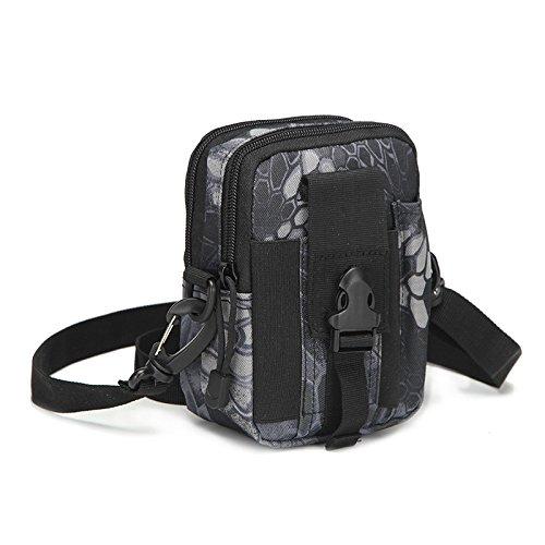 Laufen, Sport, Freizeit, Einzelne Schultern, Schultern, Diagonal, Outdoor, Männlich Und Weiblich, Taschen Python black