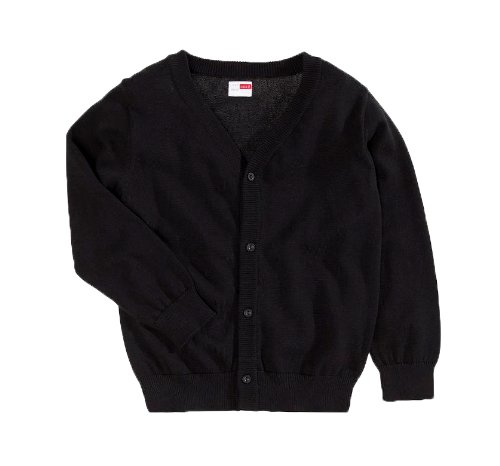 NAME IT Jungen Strickjacke 13074767 Vakke Kids Knit Cardigan Black (110-116)