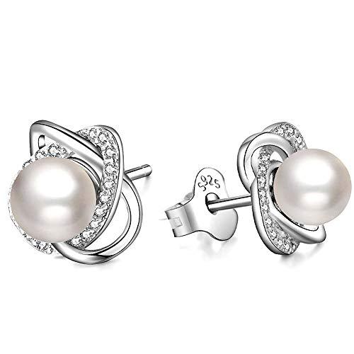 ad648b9c906f TOJEAN  Amor Perla  Pendientes Mujer Plata de Ley 925 con Swarovski Perla
