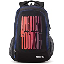 (CERTIFIED REFURBISHED) American Tourister 32 Ltrs Black Casual Backpack (AMT FIZZ SCH BAG 03 - BLACK)