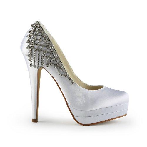 Jia Jia Wedding 40932 Scarpe Sposa Scarpe col tacco donna Bianco