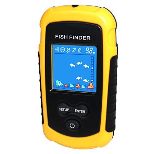 Fisch Echolot, Fisch Positionsanzeige Tragbarer Sonar LCD Fischfinder mit Kabel Fischalarm Go Fishing -