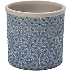 Burgon & Ball Keramik Blumentopf Porto D14cm blau
