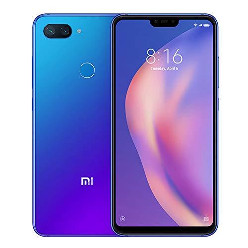 """Xiaomi Mi 8 Lite Smartphones Pantalla de Pantalla Completa de 6.26"""", 4GB RAM + 64GB ROM, Tarjetas Dual SIM, cámara de 24MP Selfie y cámara Trasera de 12MP + 5MP AI Doble (Azul-Morado)"""