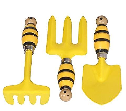 Gartenwerkzeuge für Kinder - 3-teiliges Gartenwerkzeugset in Miniaturausgabe für Kleinkinder / Kinder fürs Gemüsebeet, Blumenkasten, Rasenflächen und im Innenebreich von (Spiel Des Jahres Liste)