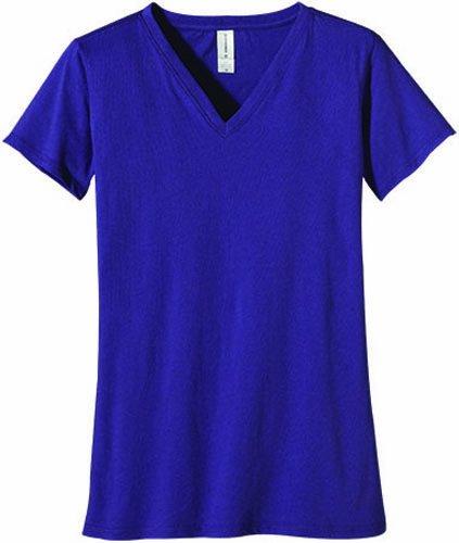 econscious Damen Organic Cotton Short Sleeve V-Neck Tee iris