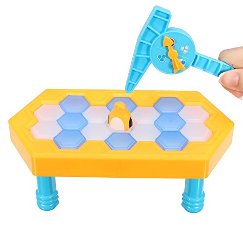 Preisvergleich Produktbild FUNTOK Pinguin Trap Tischspiel Desktop Spiel Balance Eiswürfel Speichern der Pinguin Eis brechen Interaktive Party-Spiel Familie Strategie Spiele Mini (18 pcs ices)