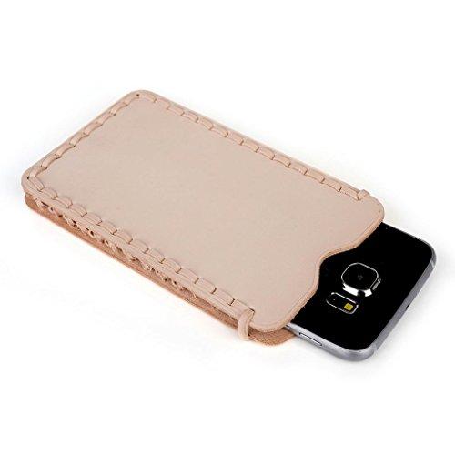 Kroo Étui ultra fin en cuir véritable pour téléphone portable HTC Desire 310/320 Marron - peau Marron - peau