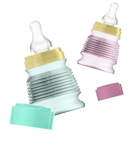 bibeo2-biberons-de-voyage-330-ml-bague-et-capuchon-couleur-flacons-mint-et-parme-2-tetine-debit-moye