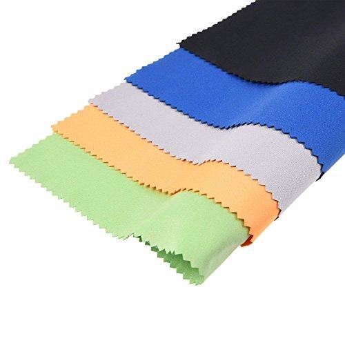 Mikrofasern Reinigungstücher - 5 EXTRA große Bunte Tücher für die Reinigung von Brillen , Brille, Kameras, iPad, iPhone, Tablets , Handys , LCD-Bildschirme , Silberwaren und andere empfindliche Oberflächen von ECO-FUSED (12 x 12 Zoll / 30 x 30 cm Schwarz, Grau, Grün, Blau, Gelb)