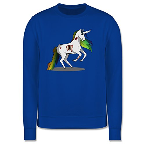 Comic Shirts - Zombie Einhorn - Herren Premium Pullover Royalblau