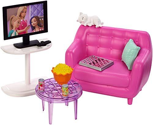 Barbie Mobilier coffret d'intérieur pour poupée avec...
